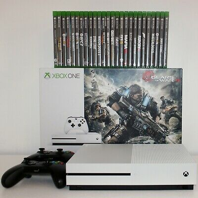 Xbox One S 1TB | 26 Games | 2 Controllers | Huge Bundle | Next Day Delivery