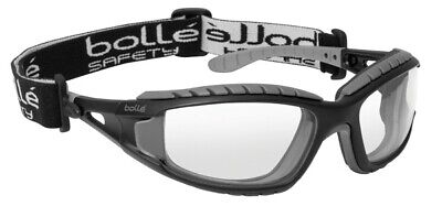 Bolle TRACKER II CLEAR Safety Glasses Goggles Anti Mist & Scratch Head Strap