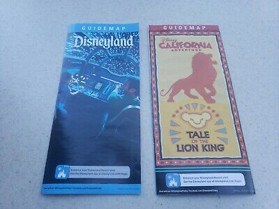 Disneyland / Disney California Adventure Guide Map 2019