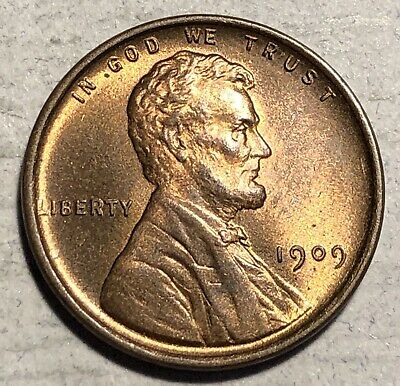 1909-VDB Lincoln Cent 1C Penny