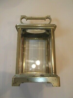 French Brass Carraige Clock Case Only, Needing A Clean And Two Glasses +