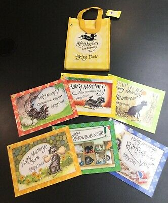 Hairy Maclary & Friends Set Of 6 Books In A Carry Bag By Lynley Dodd Ex Con