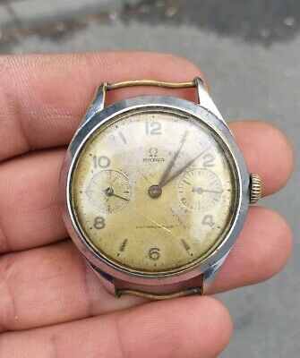 """TOP Vintage Wrist Watch Omega """"marriage"""" converted pocket watch 1940s Swiss Made"""
