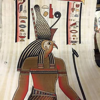 Unique Hand Painted Papyrus Egyptian God Hours Made In Egypt
