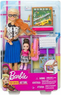 Mattel Barbie Career Playset Music Teacher Doll & Playset - You Can Be Anything