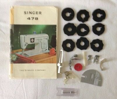 Singer 478 Sewing Machine Instruction book and acessories Please see photos