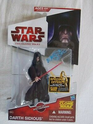 "Star Wars ""The Clone Wars"" Darth Sidious figure # CW45 Unopened"