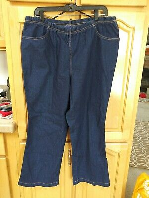 Just my size blue plus comfort stretch boot cut pull on denim jeggings 2XG