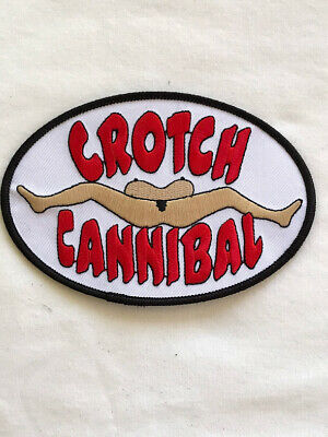 Crotch Cannibal Motorcycle Biker Jacket Vest  Patch