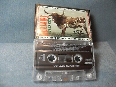 Cassette Tape The Outlaws Super Hits Willie Nelson Waylon Jennings Tested