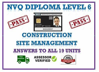 Nvq/Qcf Level 6 Diploma In Construction Site Management All Answers 19 Units