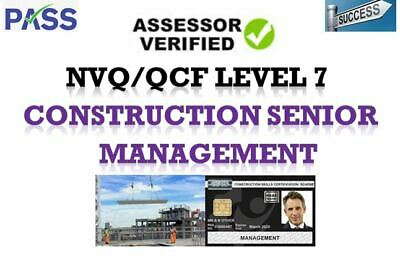 Nvq/Qcf Level 7 Construction Senior Management Answers Rapid Dispatch 2019