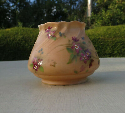 Royal Worcester Blush Ivory Small Vase G958 - Hand Painted Flowers 1917