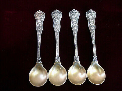 Set of 4 ~Tiffany & Co. ~Olympian ~ Sterling Silver Bouillon Spoons ~ 1898