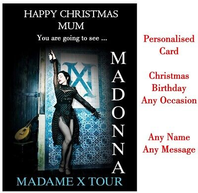 Personalised MADONNA Madame X Tour Ticket Wallet Concert Card Birthday Christmas