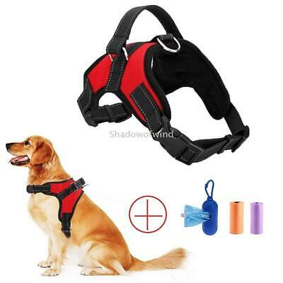 Dog Chest Strap Harness for Large Dogs Heavy Duty No Pull Reflective Soft Nylon