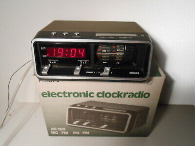 Philips Clock Radio AS 160 um 1970