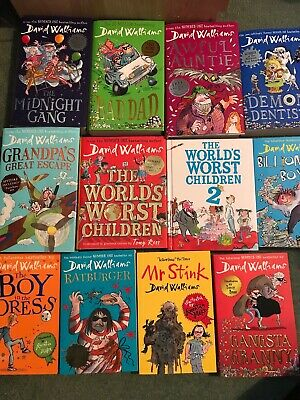 Collection Of David Walliams 12 Books