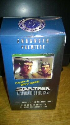 Star Trek  CCG's Enhanced Premiere Data & Picard Trading Cards Deck Romulans