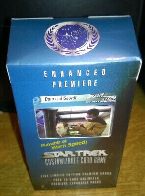 Star Trek  CCG's Enhanced Premiere Data & Geordi Trading Cards Deck