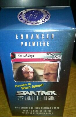 Star Trek  CCG's Enhanced Premiere Sons Of Mogh Trading Cards Deck Klingons