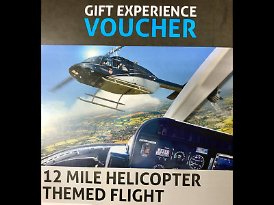 Gift Experience Voucher 12 Mile Helicopter Themed Flight.
