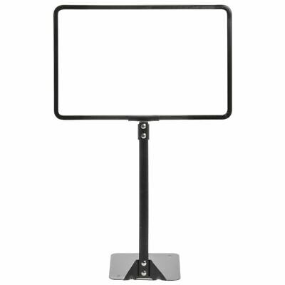 "HUBERT Sign Frame Sign Holder With Rigid Stem Matte Black Finished Steel - 11""L"