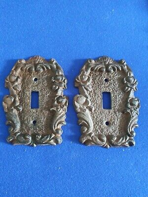 Cast iron light switch cover lot of 2