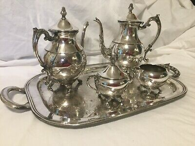 FB Rogers Silver Company 5 piece Coffee/Tea Service Set pattern #2391