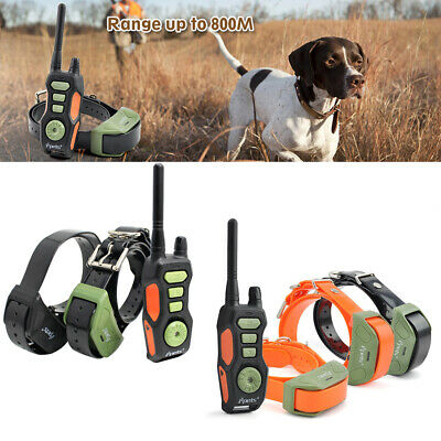 Rechargeable Dog Shock Training Waterproof Collar Remote Control For 1/2/3 Dogs