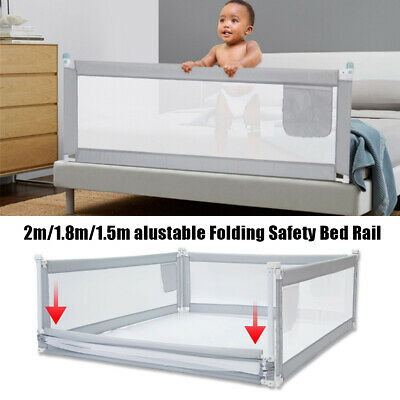 Baby Bedrail Safety Bed Rail Cot Guard Protection Child toddler Kids  !