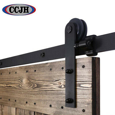 4-20FT Antique Sliding Barn Door Hardware Closet Track Kit Single/Double/Bypass