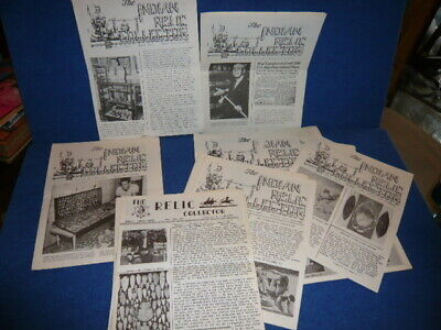 Lot of 11 1962-63 INDIAN RELIC COLLECTOR Newsletters ARROWHEADS War Tomahawk +!!