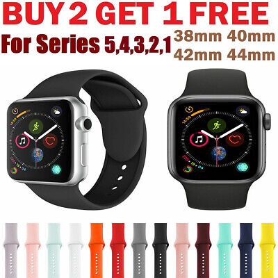 Silicone wrist bracelet strap iwatch band for apple watch series 5/4/3/2 40/44mm