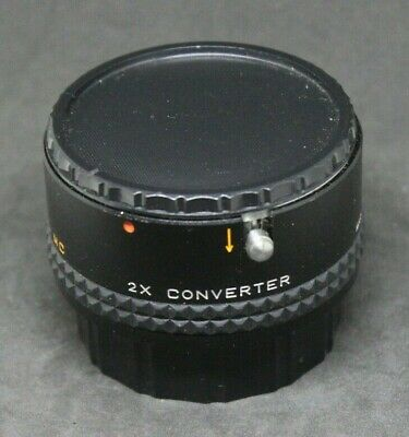 Focal MC 2X Converter PK / 20-06-75 Camera Lens with Case Made in Japan