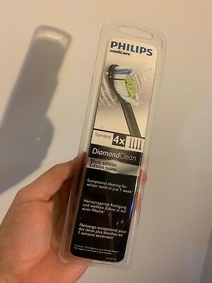 4 x Philips Sonicare Diamond Clean (BLACK EDITION) Toothbrush Heads