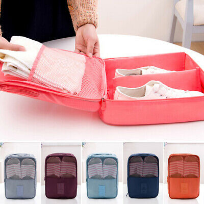 Unisex Travel Portable Shoe Storage Bags Box Multi-layer Compartments Organizer
