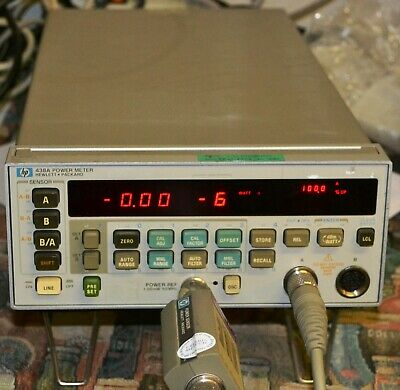 HP 438A Dual Sensor Power Meter tested  option 002 front and rear connectors