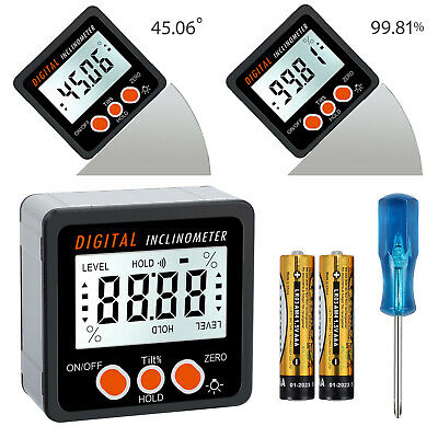 0-360° LCD Digital Bevel Box Gauge Angle Finder Protractor Magnetic Inclinometer