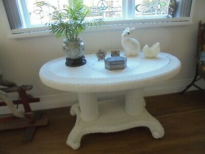Vintage art deco seagrass table
