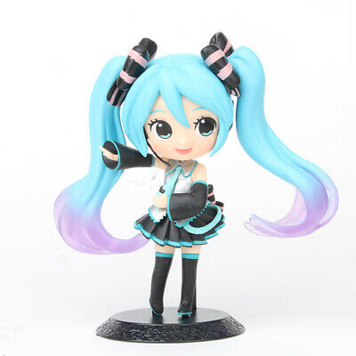 Hatsune Miku Anime Cute Girl 14CM PVC Action Figure Cake Topper Figurine Kid Toy
