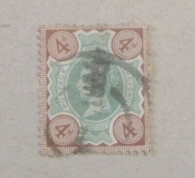 Unchecked Queen Victoria used postage stamp 4d.