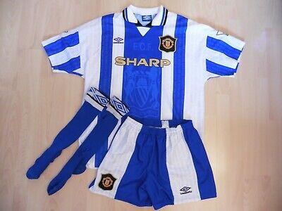 Manchester United Vintage Umbro 1994-1996 Away 3rd Shirt Kit XL