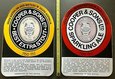 Coopers. Best Extra Stout & Sparkling Ale.Original Stickers / Decal. x 2.