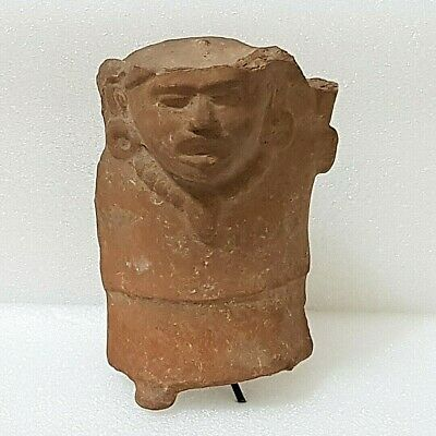 Pre Columbian Mexican Veracruz Pottery Figural Whistle.