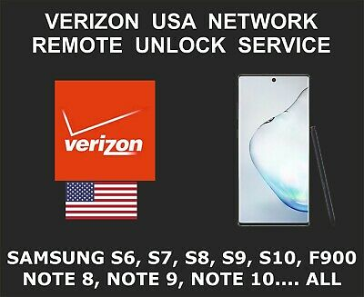 Verizon USA Samsung Remote Network Unlock, S7, S8 S9, S10, Note 10, Fold, All
