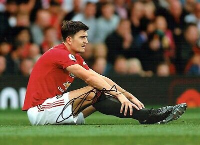 Harry MAGUIRE Signed Autograph 16x12 Photo A AFTAL COA Manchester United Man Utd
