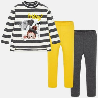 Mayoral Girls striped leggings & Long Sleeved t-shirt set (04713) aged 2-8yrs