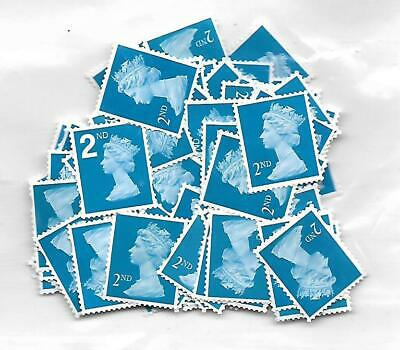 110 x 2nd Second Class NOT SECURITY OLDER Stamps Unfranked No Gum  OFF PAPER
