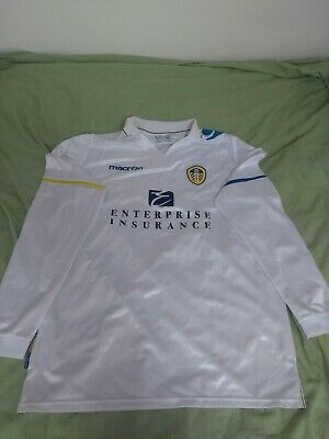 Vintage Macron Leeds United Home 2011-2012  White Football Shirt Size 3XL XXXL